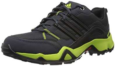 adidas Men's Woran Black and Green Mesh Trekking and Hiking Footwear - Shoes - 7 Uk