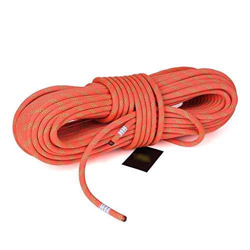 LQBDJPYS Wäscheleine, Statisches Seil, Klettern, 12 mm, für den Außenbereich, professionelle Schnur, Höhlenforschung, Survival-Seil, Kletterausrüstung, reißfest, Orange, 50 m -