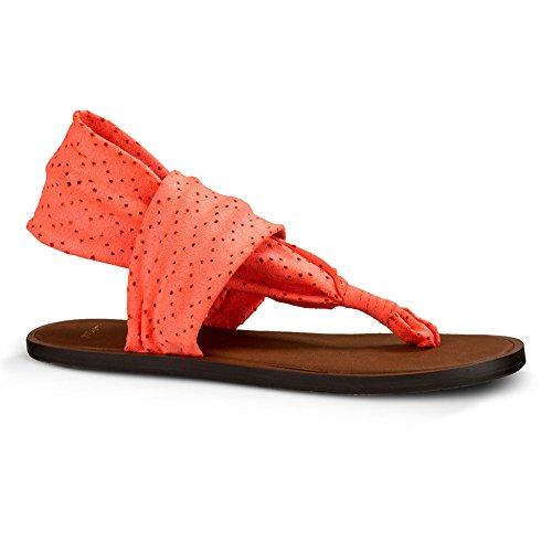 Sanuk Yoga Sling 2 Sandals Women Rouge - Coral Caliente