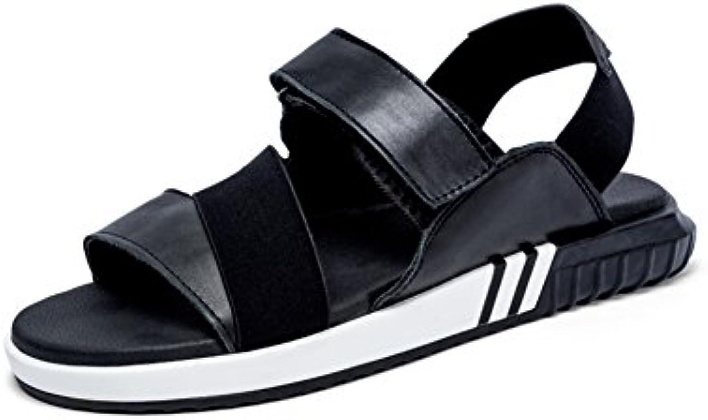 WYYY Calzado De Hombre Sandalias Temporada De Verano Doble Uso Punta Abierta Antideslizante Sandalias Velcro Banda