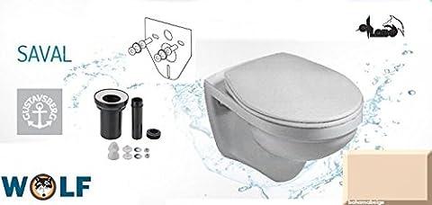 Villeroy&Boch Wand WC Tiefspüler Saval bahamabeige, Gustavsberg + HARO Wave WC Sitz Softclose + Set