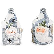 deko weihnachtsmann keramik