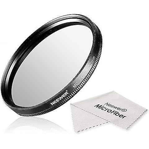 Neewer® 52MM CPL Circular Polarizador Filtro Multi-Coated con Limpiador de Micro Fibra para la Lente de la Cámara con un Filtro de 52mm de