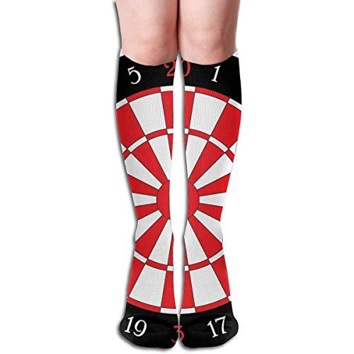 DFSDFSASDF Long Socks, Darts Board Knee High Socks, Unisex Tube Compression Thigh Sock Crew Athletic Football Stockings