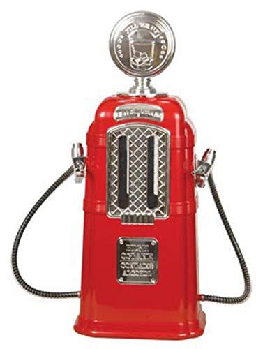 JASNO Doppelter Gas-Pumpen-Alkohol-Verteiler Chrom Überzogene 1080 ML-Kapazitäts-Ministab-Zusätze Tankstelle-Art-Flüssigkeit, Die Unterschiedliche Werkzeuge Trinkt,Red Gas Pump Dispenser
