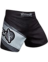 Hayabusa Kick Boxing Fight Short–Black/Grey–Le Kickboxing K1MMA Muay Thai Fight Short Glory Messieurs