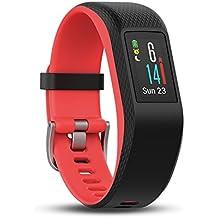 Garmin Vivosport Pulsera de Deporte con GPS y Monitor de Ritmo cardiaco, Negro/Fucsia, S/M (Reacondicionado)