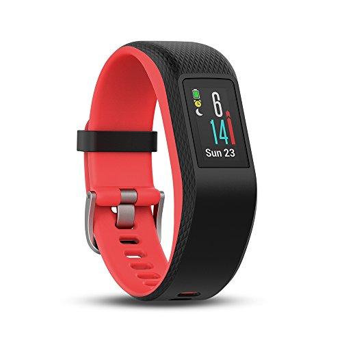 Garmin Vivosport - Bracelet de Sport avec GPS et Cardio Poignet - Taille S/M - Noir/Fuchsia