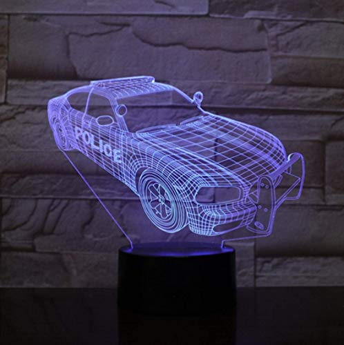 Neuheit Beleuchtung 3D Illusion Led Lampe Polizei Auto Modell Nachtlichter Für Kinder Schlafzimmer Dekoration Kreative Geschenk Lampen