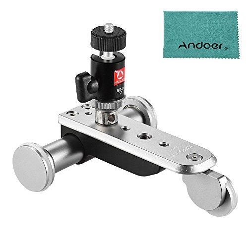Andoer 3 Rad Auto Dolly 5 Geschwindigkeiten Motorisiertes Video Car Slider Skater mit USB Akku metal Kugelkopf Max. 4kg für iPhone für GoPro Hero 5/4/3 + / 3 Action Kamera Camcorderdrahtloser