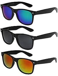 X-CRUZE® Nerd Sonnenbrille Retro Vintage Style Stil Unisex Brille - 45 verschiedene Farben/Modelle wählbar