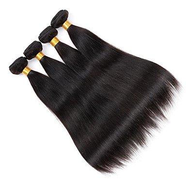 MZP 4bundles / lot 100g / pcs virginal del pelo humano sedoso cabello productos no procesados ??rectas pelo barato , 4 pieces