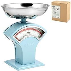 Habi 100075 Bilancia Cucina Meccanico, 1 kg, Metallo, Azzurro