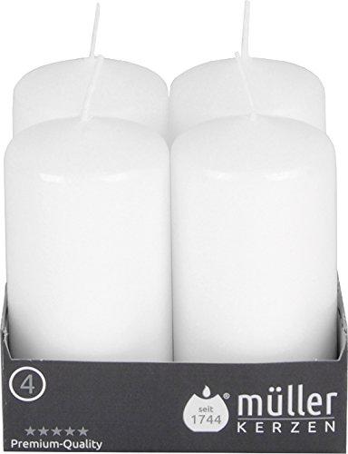 Müller Kerzen 24 Sicherheitskerzen mit Brandschutzsystem BSS, 100 x 50 mm, weiß (6 x 4er Pack)