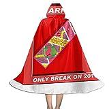 OJIPASD Ojipad - Mantello con Cappuccio per Hoverboard Back to The Future Break in 2015, Unisex, per Bambini, Ideale Come Decorazione per Feste di Halloween o Natale