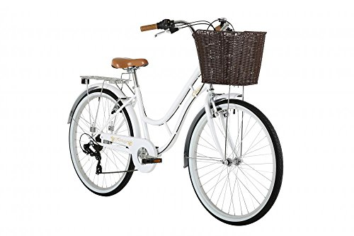 "41FtGyrkChL - Classic Heritage Ladies 26"" Wheel 7 Speed 16""£ Frame Traditional Bike Bicycle White"
