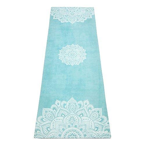 Die Combo Yoga Matte 1,5mm. Luxuriös, rutschfest und faltbar. Matte/Handtuch Designed beim Schwitzen besser zu Greifen. Waschmaschinenfest, umweltfreundlich. Ideal für Hot Yoga, Bikram, Ashtanga, Pilates (Mandala Turquoise)