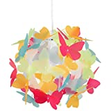 Preciosa Pantalla de Lámpara Infantil de Techo MiniSun con Mariposas Multicolor