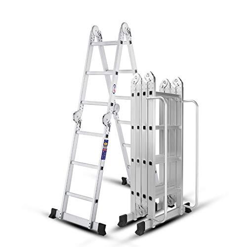 Lpz scala telescopica scala multifunzione pieghevole scala dritta scala a spina di pesce spessa sicurezza in lega di alluminio (dimensioni : 2.55m)