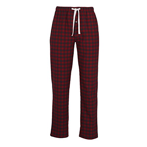 TOM TAILOR Herren Lange-Hose, Schlafhose, Pyjama-Hose - Baumwolle, Flanell, rot, kariert, mit Eingriff 54 (Flanell Schlaf-hose Herren)