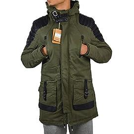 Da UOMO FIELD JACKET FODERE caldo interno trapuntato kaki giacca a collo alto US XS-XL