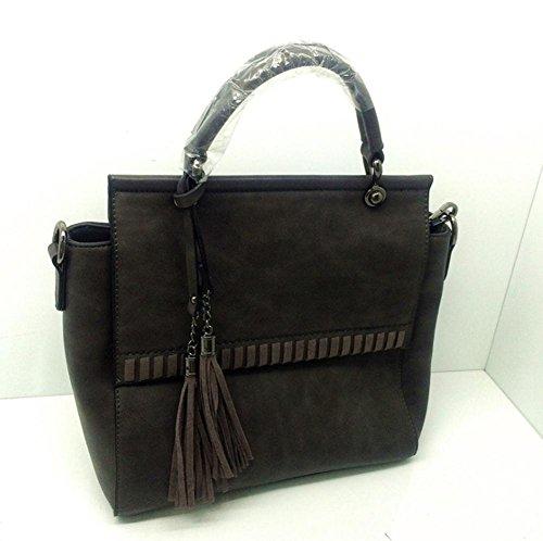 GBT Die neue Art und Weise Damen Handtasche deep gray