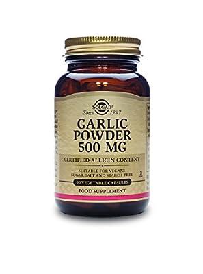 Solgar 500 mg Garlic Powder Vegetable Capsules - Pack of 90 from Solgar
