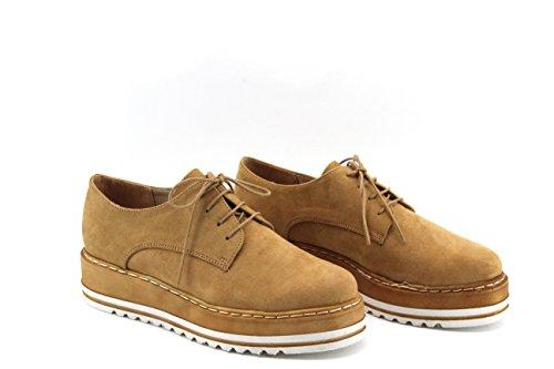 MODELISA , Chaussures de ville à lacets pour femme Camel