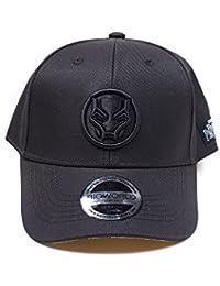 Bioworld Marvel Comics Black Panther Logo Patch Curved Bill Baseball Cap 2479d28b6b8