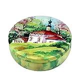 Xuxuou Scatola di Zucchero Scatola di Latta Regalo Creativa Scatola di Biscotti Scatola di Snack Decorazioni Natalizie Lllustrazione di Foresta Verde