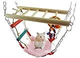 Crasy Shop Pet Hamster Käfig Hängematte & playbridge Exersize Leiter für Zwerg Hamster Gerbil Rat Maus klein Animal