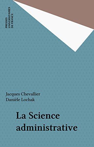 La Science administrative
