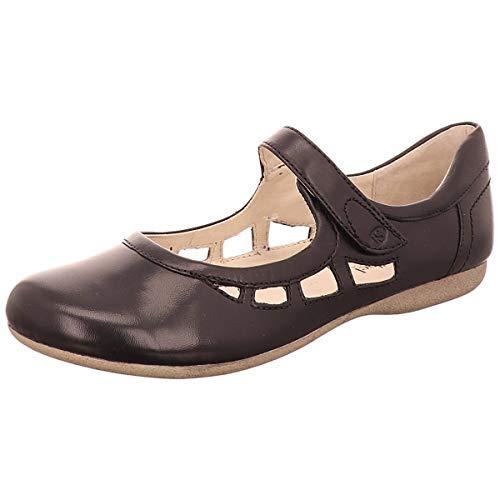 Josef Seibel 87255 Fiona 55 Damen Riemchenballerinas,Mary-Jane,Flats,Knöchelspange,Sommerschuh,sportlich,schwarz,43 EU -
