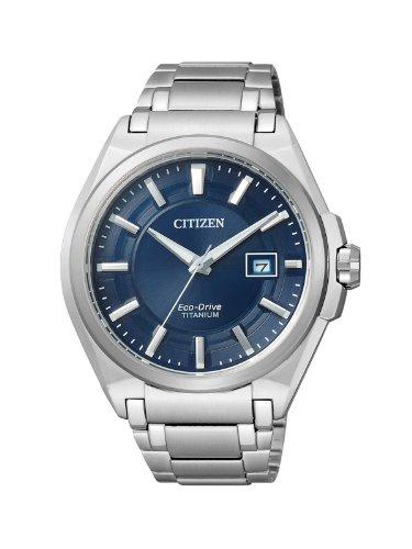 Citizen Herren Analog Quarz Uhr mit Titan Armband BM6930-57M