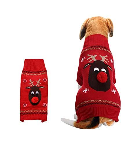 Snaked cat Weihnachtspullover für Hunde und Katzen, mit Roter Nase