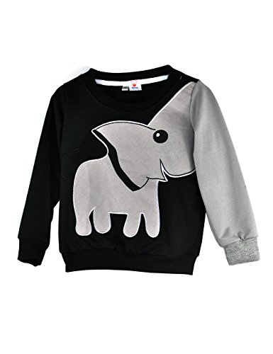 Little Sorrel Kinder Jungen Kleidung Elephant Cartoon Top Sweatshirt T-Shirt