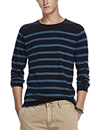 Scotch & Soda Crewneck Pullover In Cashmere Blend Quality with Rolled Edge, Suéter para Hombre