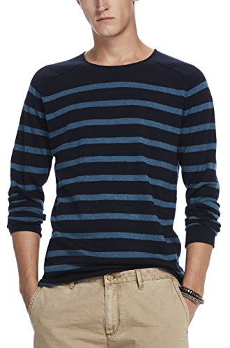 Scotch & Soda Herren Crewneck Pullover in Cashmere Blend Quality with Rolled Edge, Mehrfarbig (Combo A 217), X-Large (Cashmere-blend Sweater)