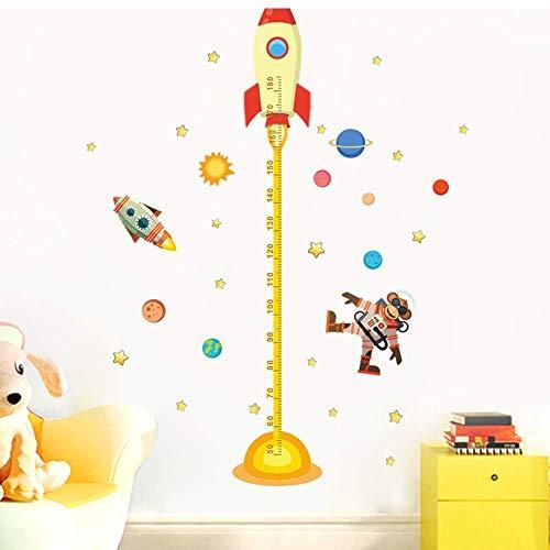 XXPF DIY weltraum planet affe pilot rakete familie aufkleber höhenmessung wandaufkleber kinderzimmer baby kindergarten wachstum karte geschenk