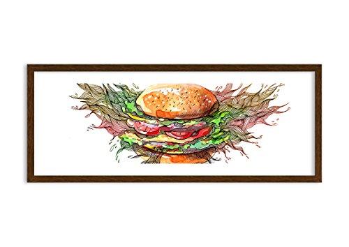 Bild im wengefarbenen Holzrahmen - Bild im Rahmen - Bild auf Leinwand - Leinwandbilder - Breite: 100cm, Höhe: 40cm - Bildnummer 2981 - zum Aufhängen bereit - Bilder - Kunstdruck - F1MAB100x40-2981