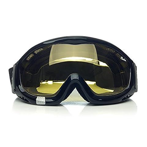 Fit Plus de lunettes 'anti-brouillard Lunettes d'équitation avec éponge Liner Bandeau élastique réglable