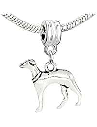 Sexy brilla de la mujer Hound Dog Charm para pulsera de cadena de serpiente