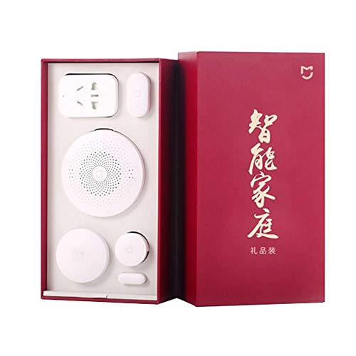 Lookthenbuy Xiaomi 5 in 1 Smart Kit di Sicurezza per la casa con Interruttore Wireless PIR sensore di Movimento