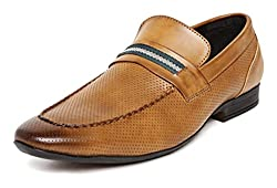 San Frissco Mens Tan Loafers - 10 UK