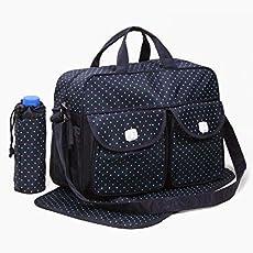 3 pcs Baby Nappy Changing Bags | Waterproof Diaper Bag Set | Navy Blue