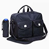 #9: Goofybuy Waterproof Baby Nappy Changing Bags, Navy Blue - 3 Pieces