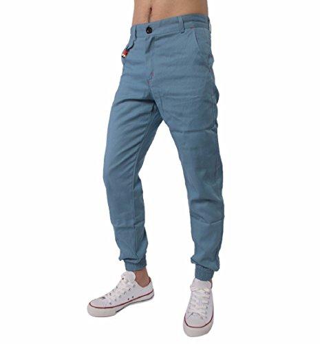 ❤️Pantalons Homme, Amlaiworld Hommes Baggy Pantalon du Sport en Coton Taille Elastique Survêtement de Harem Pantalons Casual Jogger Sportwear Pantalon Confortable JAGGING Baggy (M, Bleu Clair)