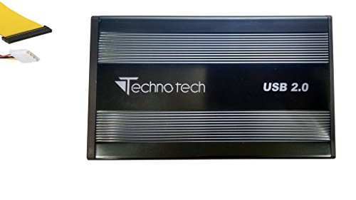 Technotech 3.5 Inch External IDE Hard Drive Enclosure Casing USB 2.0 for Desktop HDD Only (Color May Vary)
