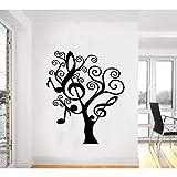 Hwhz 68 X 55 Cm Music Tree Plantas Creativas Etiqueta De La Pared Gigante De Vinilo Calcomanía Arte De La Ventana De La Sala De Estar Decoración