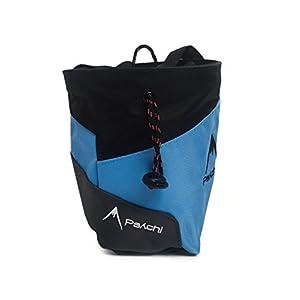 Bolsa de tiza Psychi Premium para escalada en roca con bolsillo trasero con cremallera y cinturón de cintura